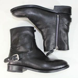 Rag & Bone Womens Oliver Motorcycle Boots Black